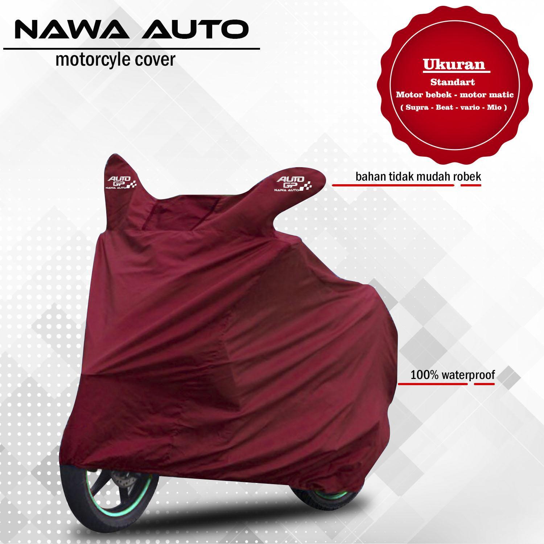 Nawa Auto - Cover Motor Selimut Motor Sarung Motor - Untuk Motor Bebek Dan Matic Kecil - Maroon
