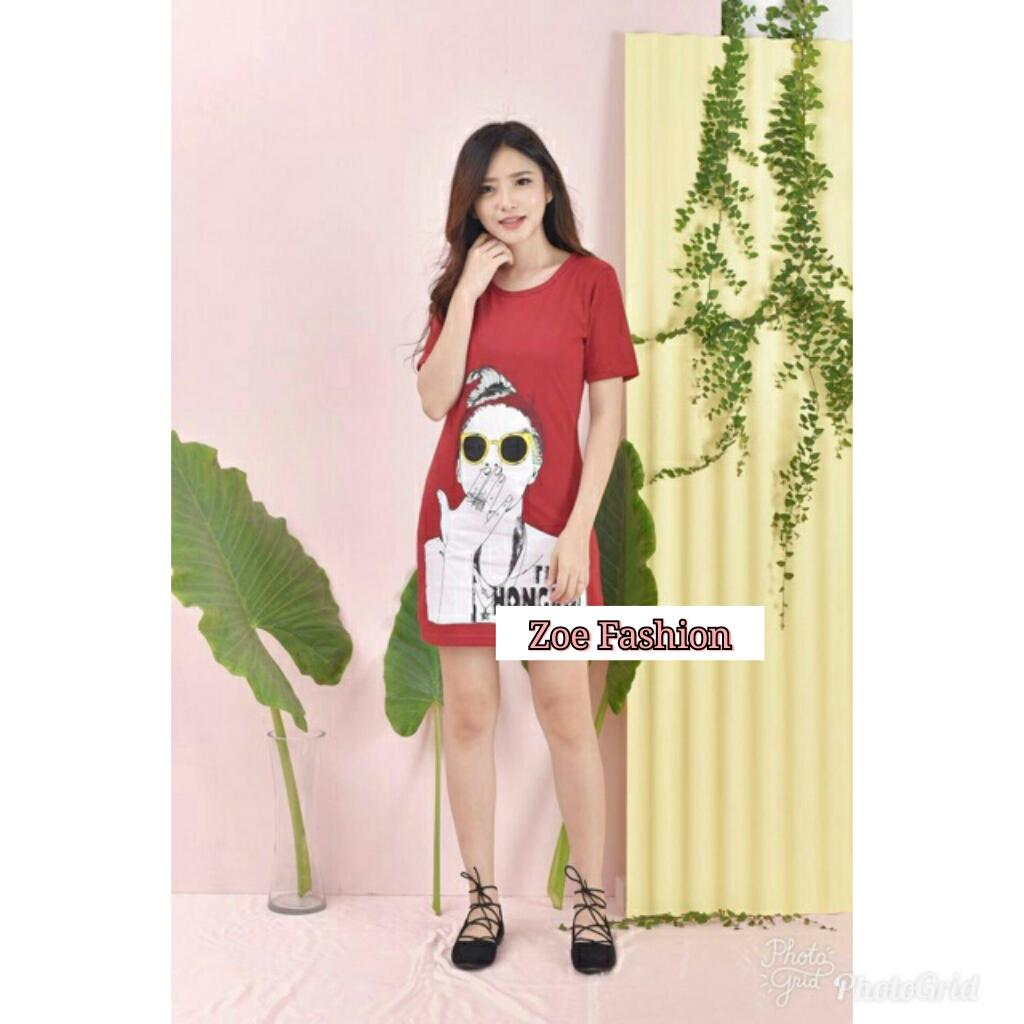 ZOEFASHION HONGKONG DRESS - MAROON NO.17