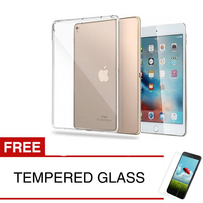 Case for Apple iPad Pro 10.5 inch - Clear + Gratis Tempered Glass - Ultra Thin Soft Case
