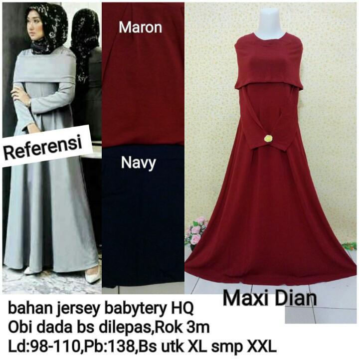 Maxi Dress Gaun Pesta Modern- Kebaya Modern Dian [SALE]