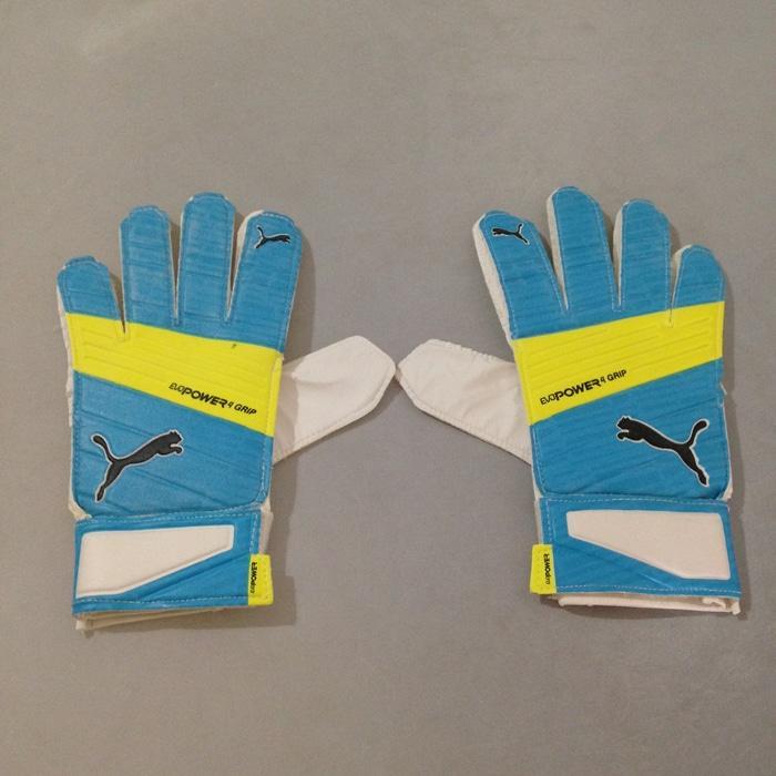 Sarung Tangan Kiper Puma Evopower Grip 4.3 GK Gloves Blue 04122702 Ori