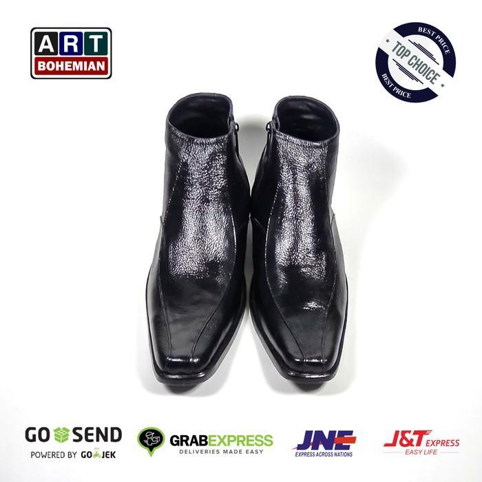 Promo Termurah Sepatu Kulit Aldo Brue Formal / Pantofel High Hitam Gratis Ongkir