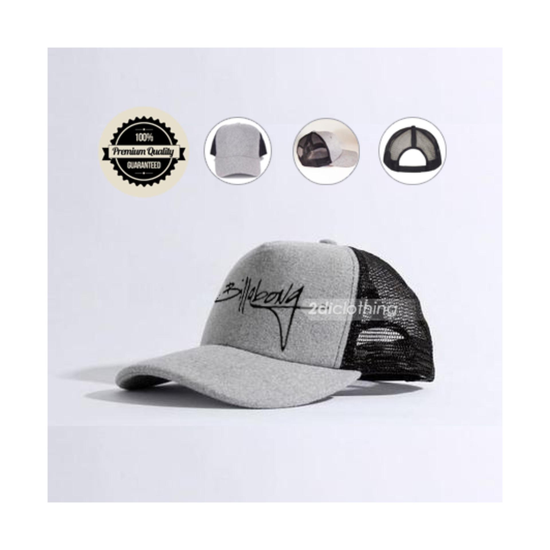 Topi Trucker distro Billabong White Grey Premium