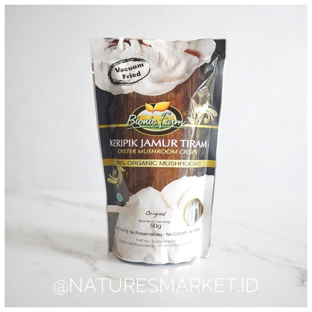 Naturesmarket.id - BIONIC FARM KERIPIK JAMUR TIRAM (ORIGINAL)