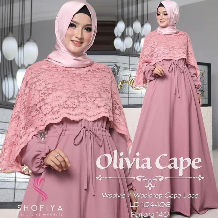 Fitur Ready Stock Nissa Sabyan Tunik V Dress Gamis Muslim Murah