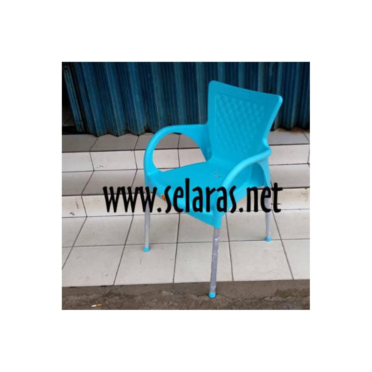 Kursi teras cafe food court plastik Akako 1081 Biru