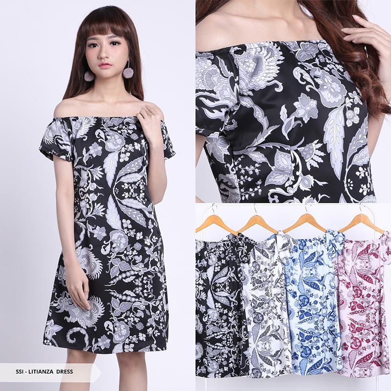 Flavia Store Blouse Lengan Pendek Pundak Bolong FS0199 - HITAM / Baju Kemeja Wanita Bahu Sabrina