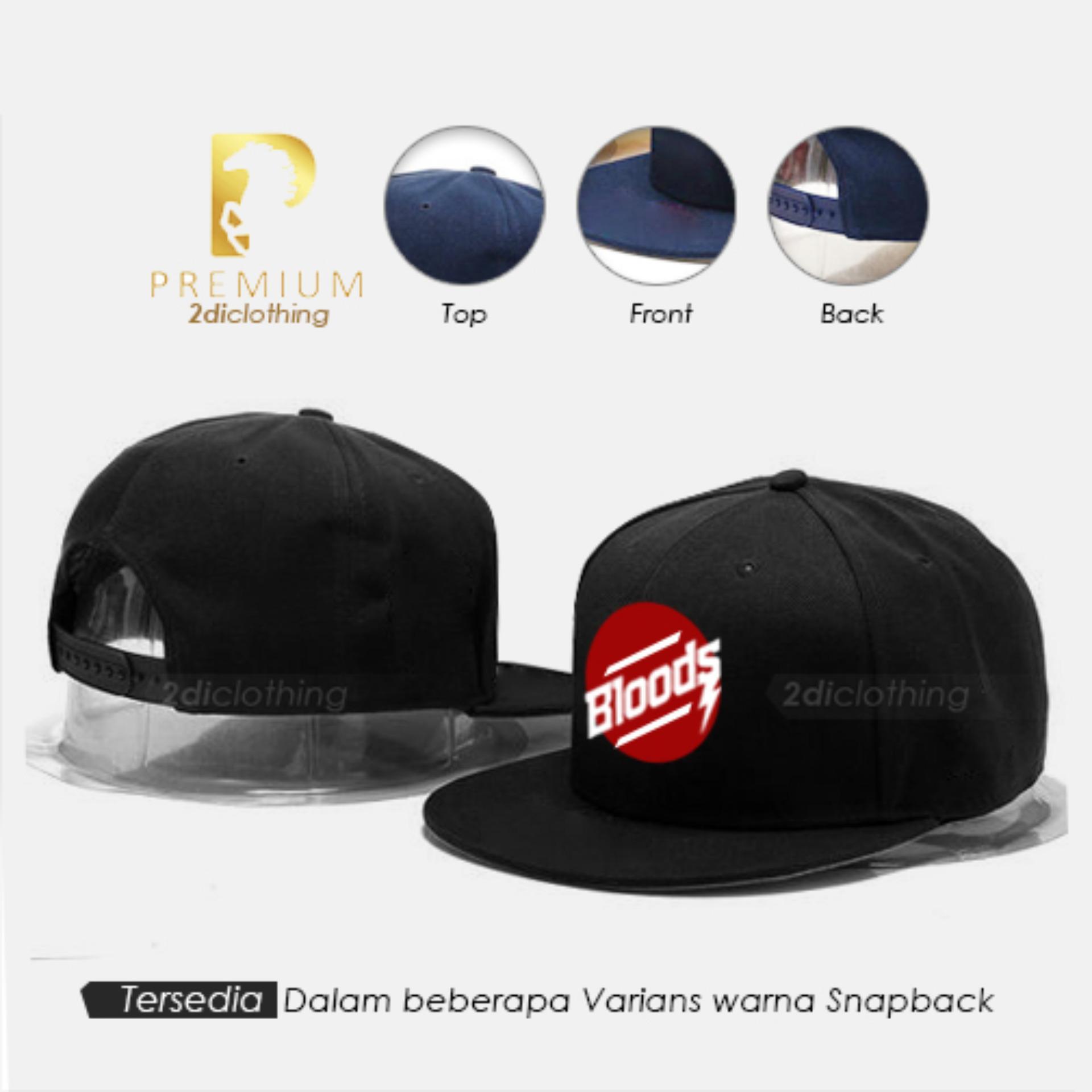 Topi distro snapback Bloods Black Premium