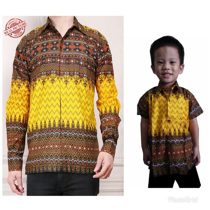 Glow fashion Couple batik Bapak dan anak atasan kemeja pria dewasa dan kemeja anak anak shirt Aldo