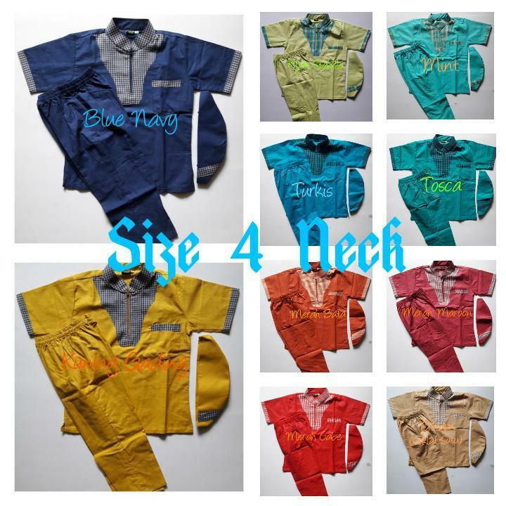 〘SuPlieR LangsUnG〙 Baju Koko anak-anak Model Neck seris 10-12 Tahun