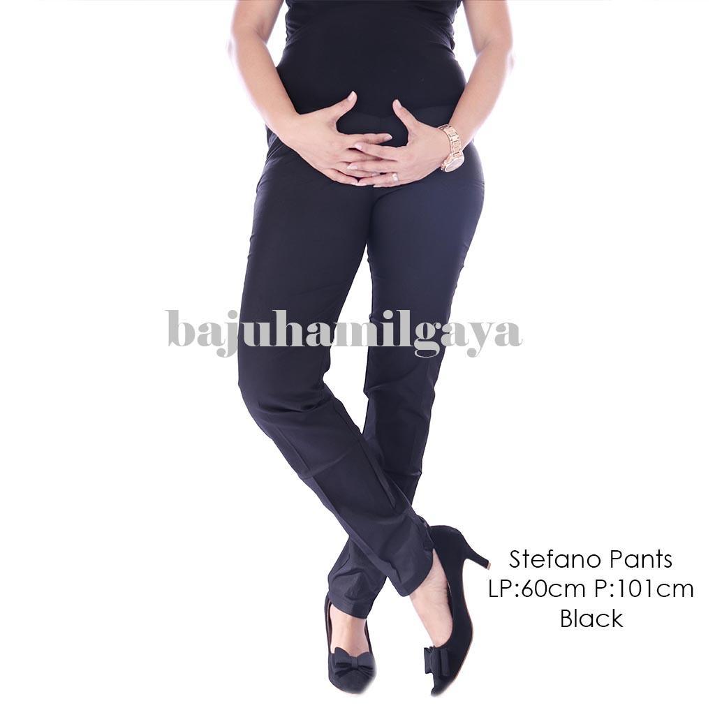 Baju Hamil Gaya Celana Hamil Kerja - STEFANO PANTS BLACK - Celana Hamil / Jeans Hamil / Celana Hamil Jeans / Celana Kerja Hamil / Celana Hamil Murah / Jeans Hamil Murah / Baju Hamil Murah / Baju Hamil Harga Murah / Wanita / Kekinian / Atasan Hamil / Laris