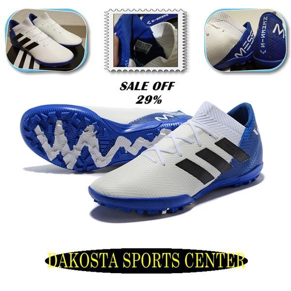 Sepatu Futsal - Adidas Nemeziz Messi 18.3 White Blue - TURF