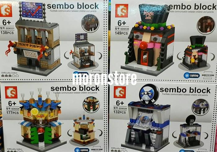 BEST SELLER!!! Lego Compatible Sembo SD 6528 Bursa Saham BMW Cocktail Magic Show LED - f7lYdT