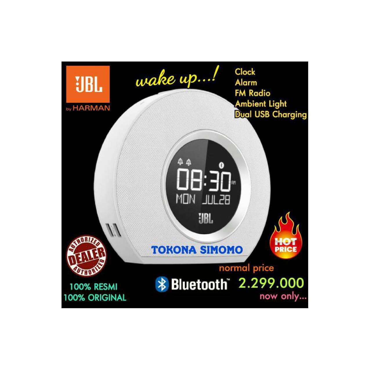 JBL Horizon - Speaker Bluetooth Clock Radio With USB Charging (White)