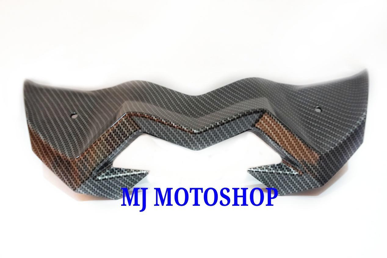 Fitur Winglet Wing Let Wingled Aerox 155 Carbon Merk Nemo Sayap Visor Yamaha Vva Kevlar Karbon 3
