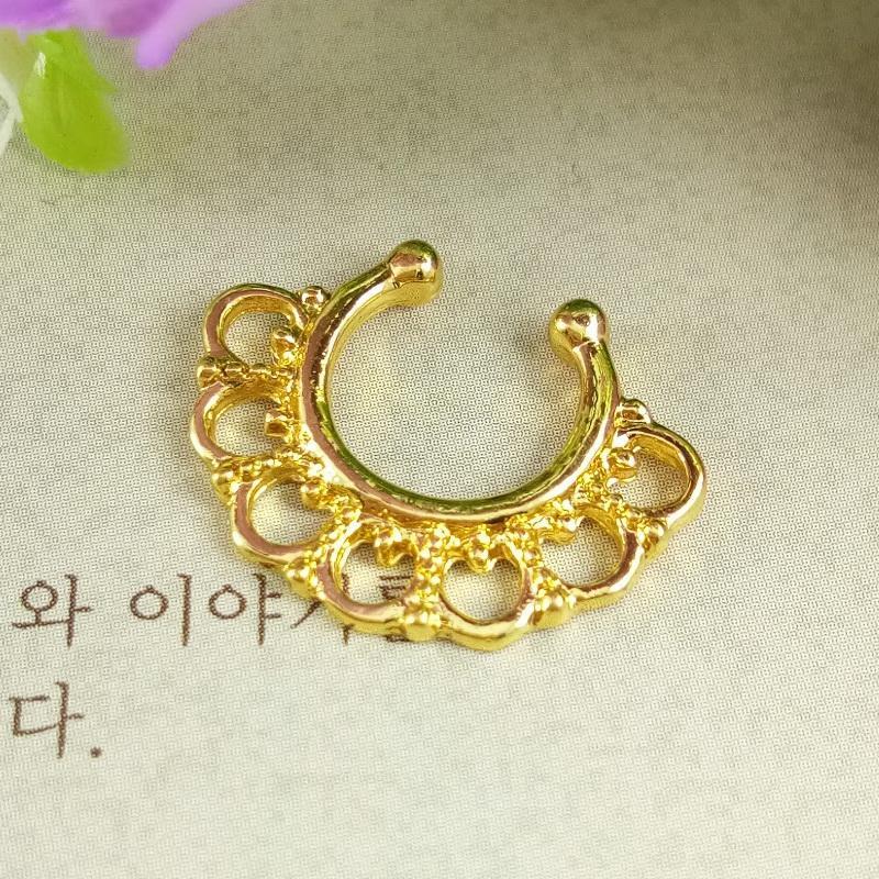 Anneui - BP0039 - fake septum piercing / anting jepit hidung (tanpa tindik) swag gaul keren kpop korea bollywood