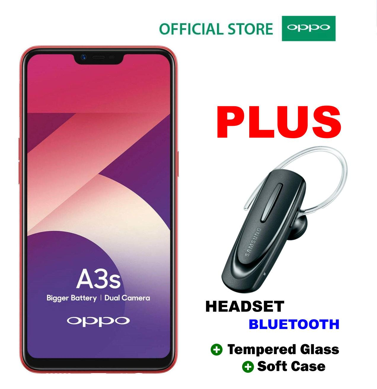 OPPO A3S 2/16GB - Plus Headset Bluetooth