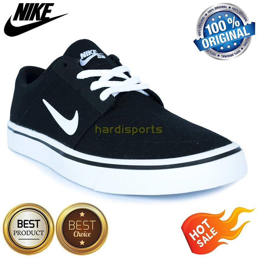 Sepatu Sneaker Casual Pria Nike SB Portmore CNVS 723874-003 - Black