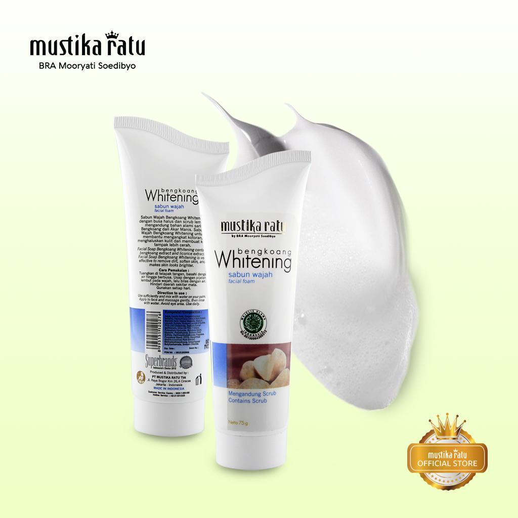 Cek Harga Baru Mustika Ratu Sabun Wajah Whitening 75gr Terkini Complete Series 4