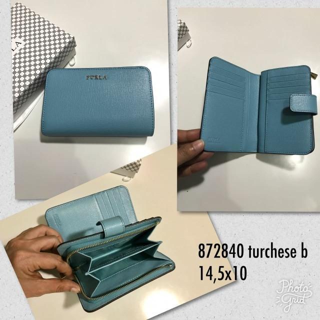 Jual Furla Short Wallet 872840 Turchese Original