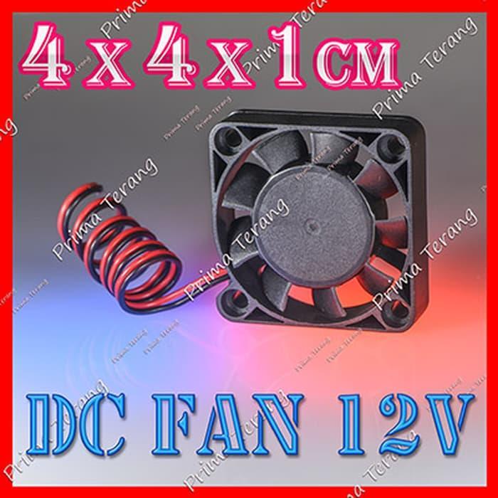 Terbaru!! 4X4 Cm Cooling Fan 12V Dc Kipas Mini Pendingin 4 X 4Cm - ready stock