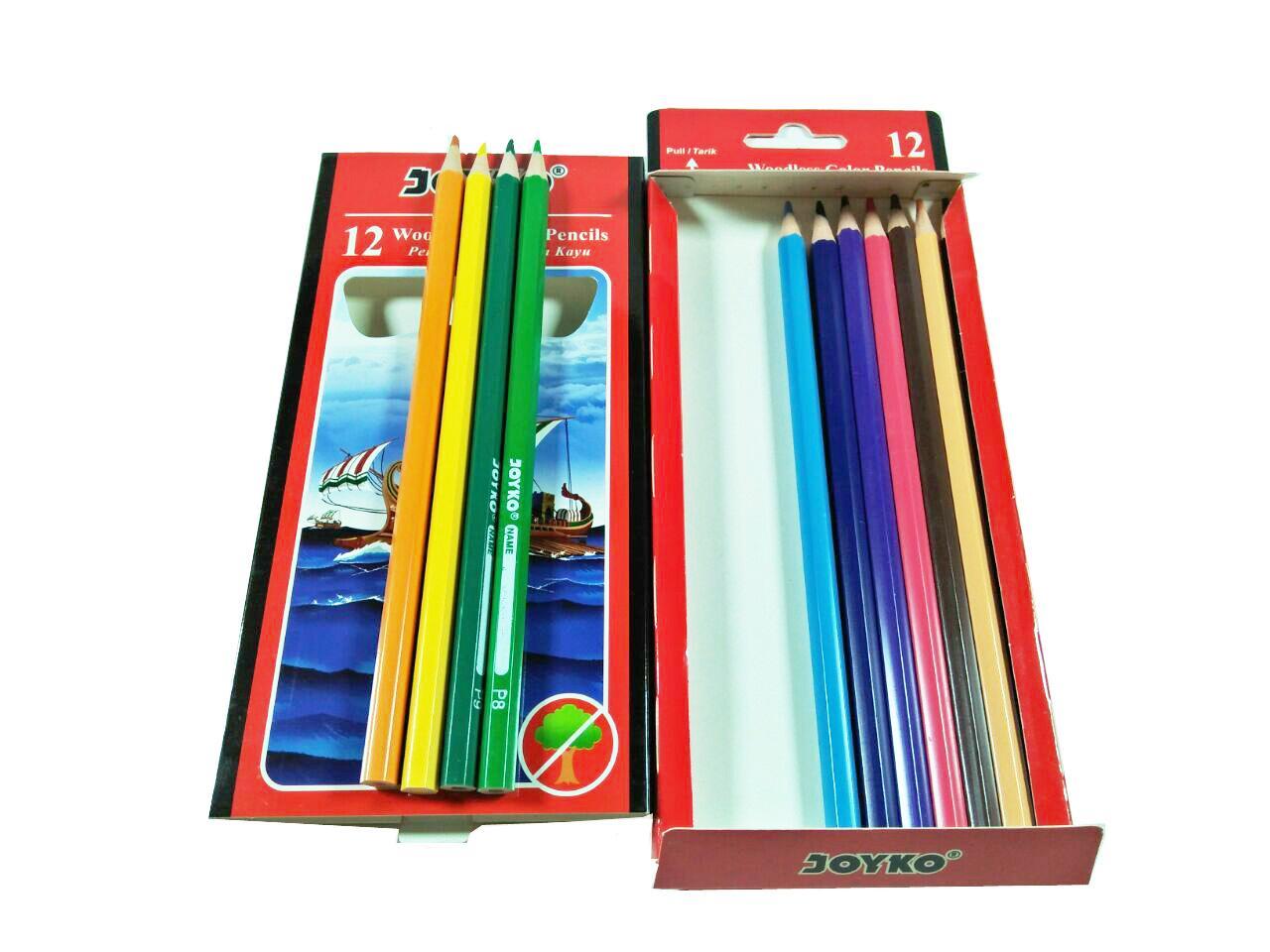 Alat gambar pensil pinsil warna Joyko isi 12 pcs