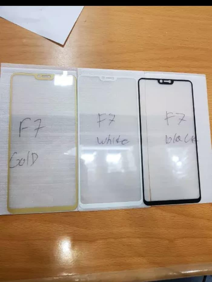 Full Tempered Glass Screen Protector Oppo F7 - Emas