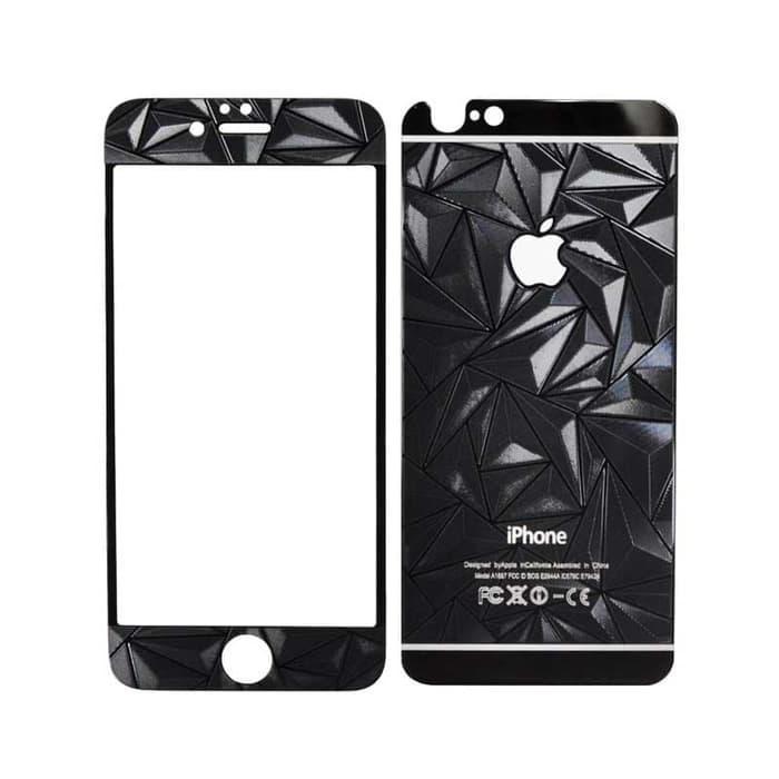 Tempered Glass Diamond iPhone 6 Plus or 6S Plus - Hitam