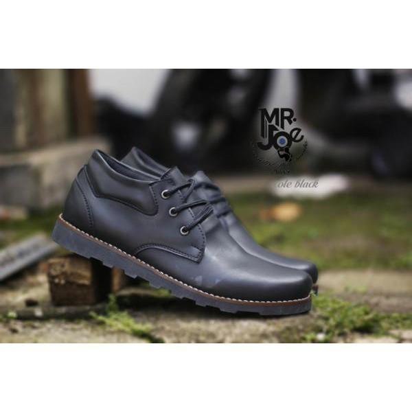 Sepatu Formal. Pria Casual Sneakers Slip On Kulit Asli Handmade Bandung Mr Joe Cole Black