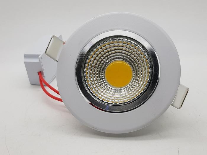Lampu Ceiling Downlight Adjustable LED COB 5 watt ( WARM WHITE )