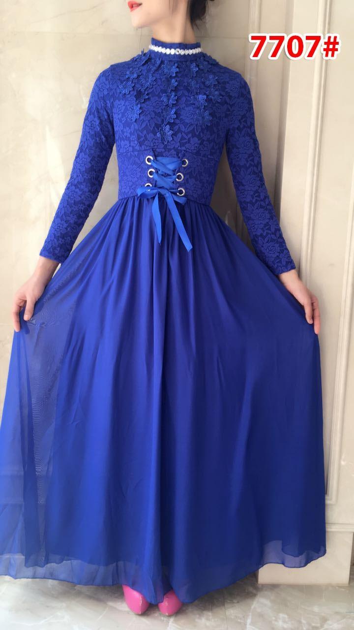 GSD - Longdress Pesta / Gaun Pesta / Baju Wanita / Baju Gamis / Maxi Dress / Baju Import 7707