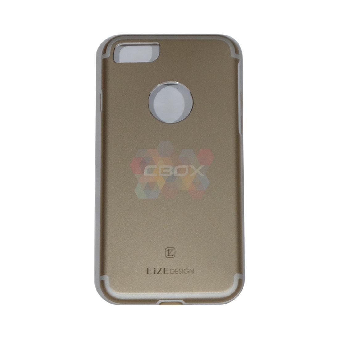 Lize Jaeger & Hardshell For Apple iPhone7 / iPhone 7 / iPhone 7G Ukuran 4.7 inch Hard Case / Hard Back Cover / casing HP Belakang - Gold
