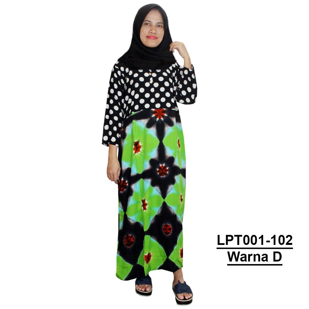 Beli Daster Batik Lengan Pendek Baju Tidur Piyama Kancing Longdress Panjang Longdres