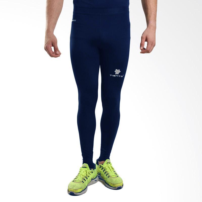 Tiento Baselayer Long Pants Navy Celana Ketat Leging Legging Panjang Compression Olahraga Sport Lari Senam Zumba Yoga Running Futsal Sepakbola Renang Diving Voli Sepeda Original