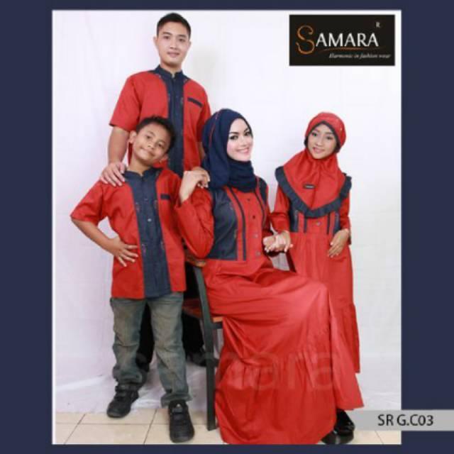 SR.C03 | Seragam keluarga couple baju muslim murah katun sarimbit branded koko gamis Ayah ibu anak. Koko Anak No 8 , 10