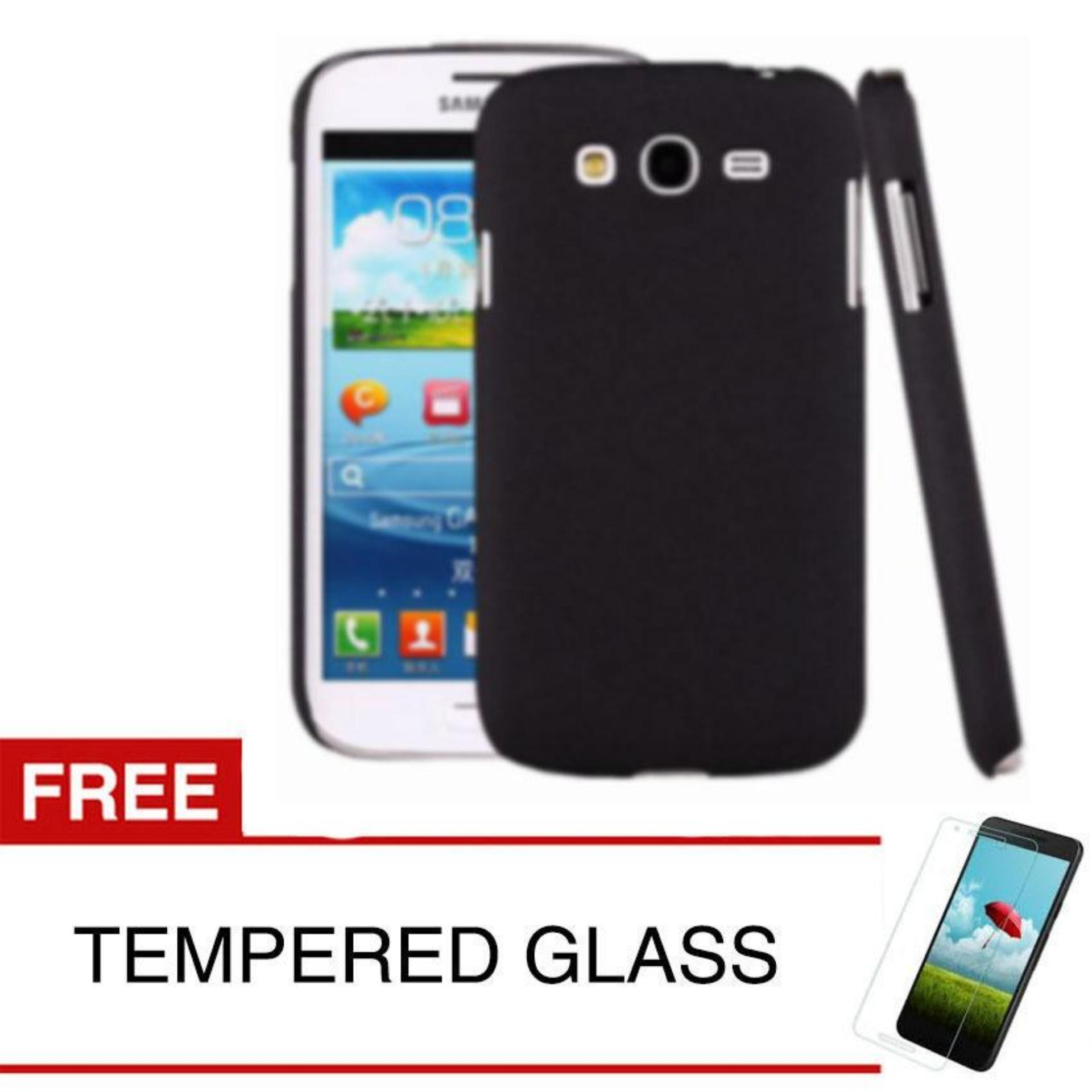Case Slim Black doff Matte Anti minyak Samsung Galaxy Grand 1 / I9082 - Black Doff