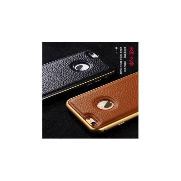 Termurah! Bumper Leather Golden Case Iphone 6/S & Iphone 6+/S Iphone 6 Plus -183 ALLF