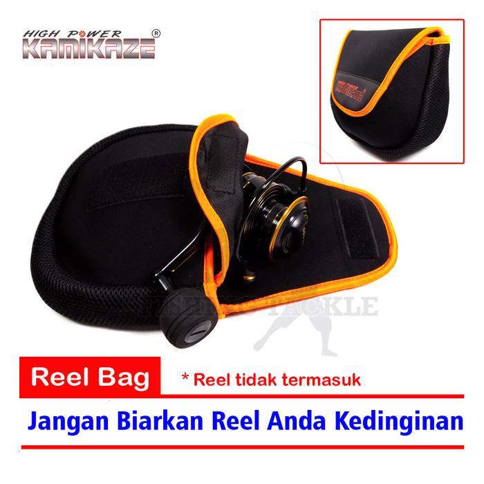 BEST SELLER!!! Kamikaze Reel Bag Jugy 107-3  Tas Reel Pancing 2 Layer - 18x16x7cm - IXA27Q