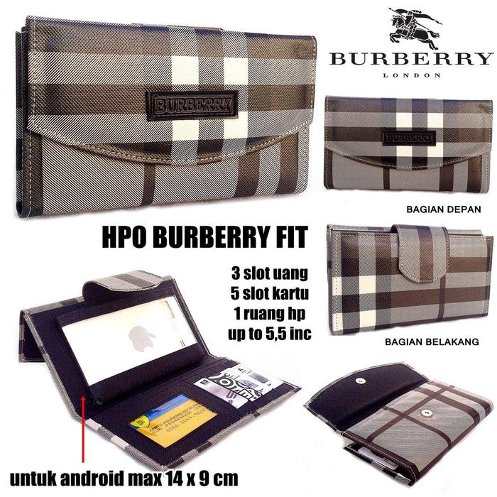 DOMPET HPO BURBERRY FIT FOR HP / ANDROID KW SUPER FULL BLACK - bX5SmO