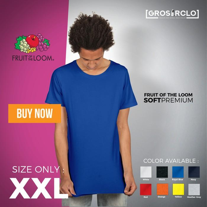 Kaos Polos Fruit Of The Loom Soft Premium 2XL Murah Original Jakarta - Vhwsmp
