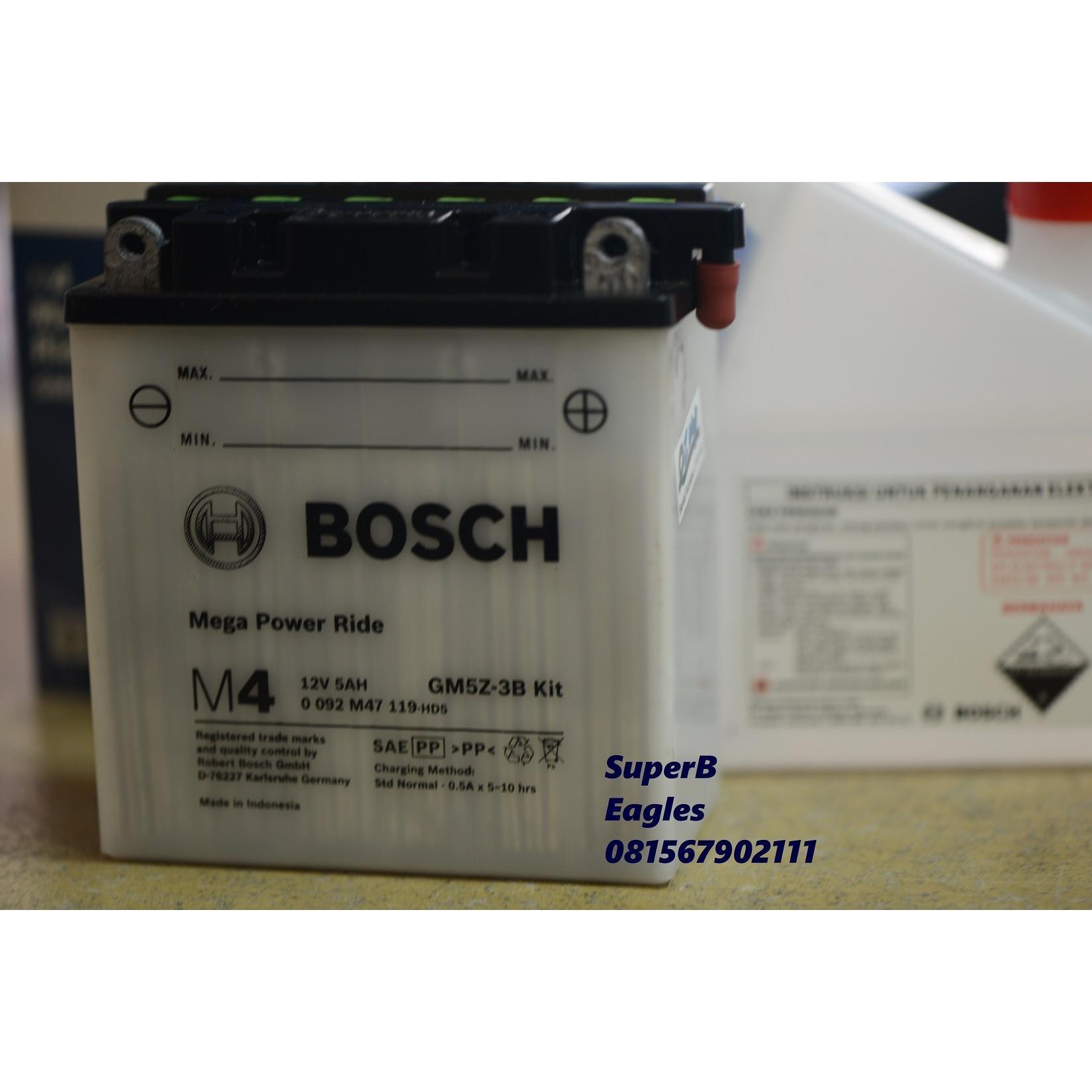 AKI MOTOR BOSCH GM5Z-3B KIT Basah  ASLI original Dry-charged