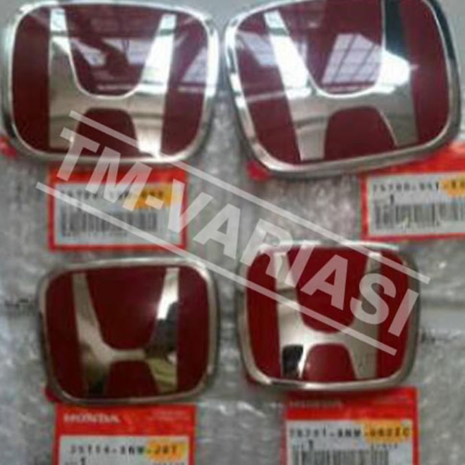 Emblem Logo Honda Merah ORI Khusus Brio HRV Mobilio BRV Jazz DLLIDR525000 Rp 525000