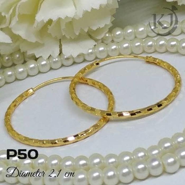 P50 Anting Gipsy - Perhiasan Lapis Emas 18K - Xuping ,