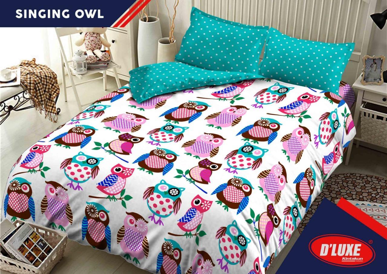 Sprei Bed Cover Kintakun Terbaru Dluxe 160 X 200 B2 Queen Azaki Aksesoris Tempat Tidur