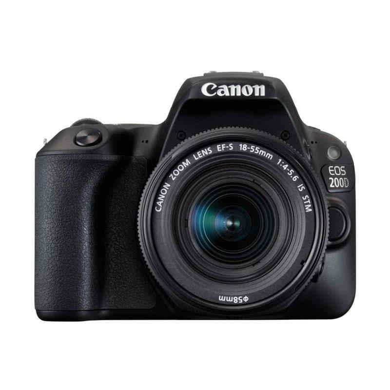 Canon EOS 200D Kit EF-S 18-55mm IS STM Kamera DSLR - Black (Distributor)