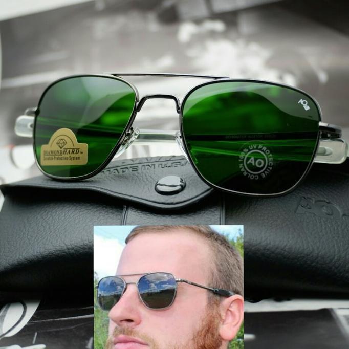 Kacamata Pria Outdoor Pilot American Optic (Ao) Gun Metalic - Djfpwjg