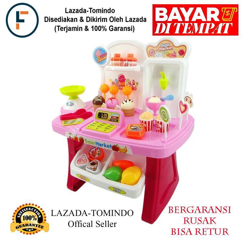 Tomindo Mini Market Playset Pink 668 24 Mainan Anak Supermarket