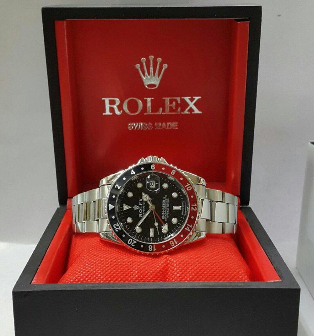 Jam Tangan Rolex GMT Master II Silver Black Combi Red