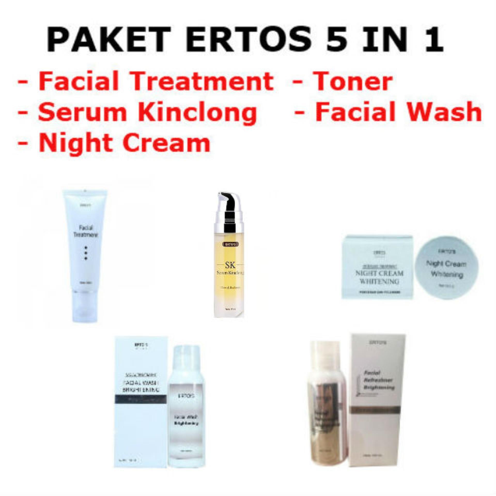 The Cheapest Price Ertos Serum Kinclong Sk Pencerah Wajah Skincare Original Paket 5 In 1 Dijamin Garansi Uang Kembali