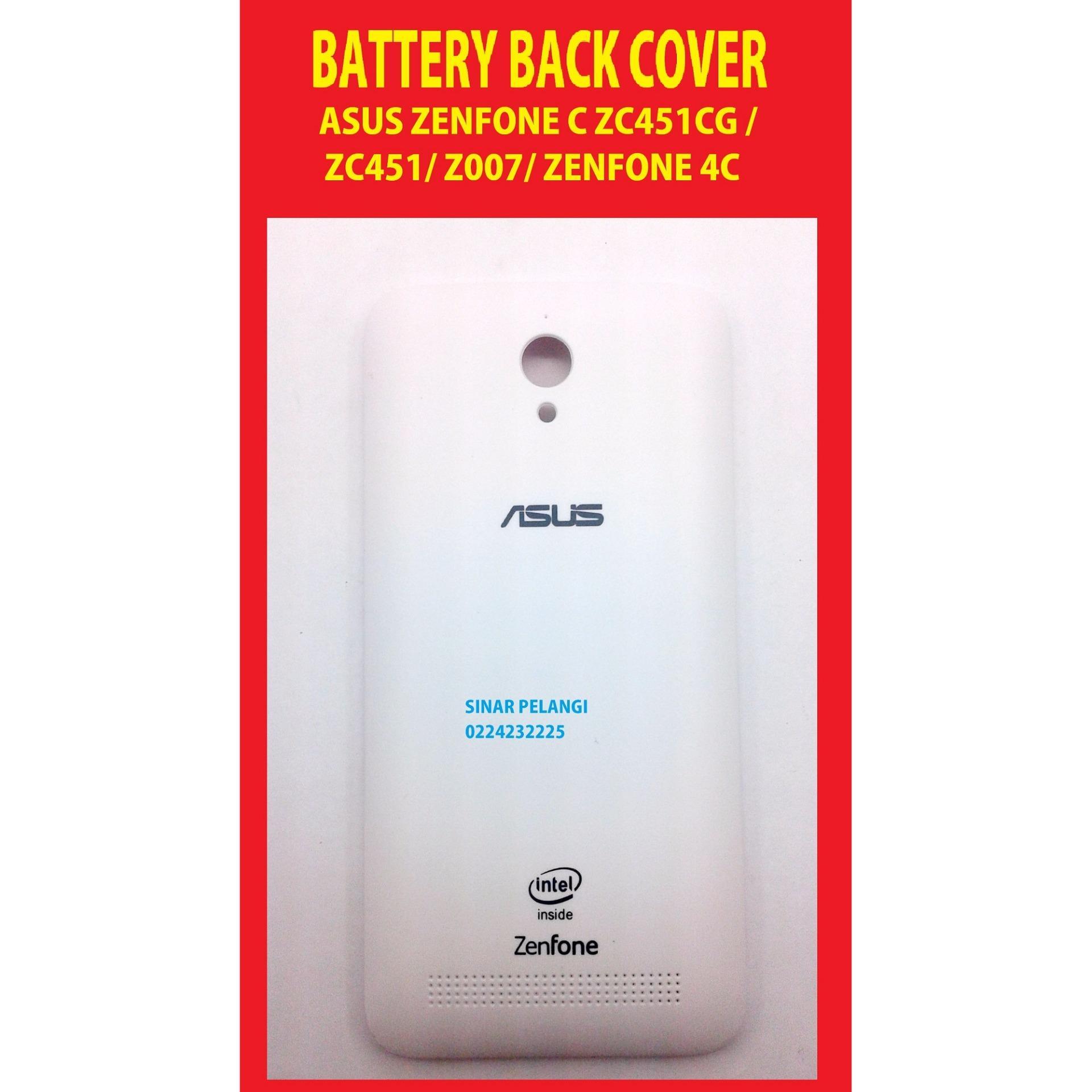 ASUS ZENFONE C ZC451CG ZC451 Z007 4C WHITE BATTERY BACK COVER DOOR TUTUP BATERAI